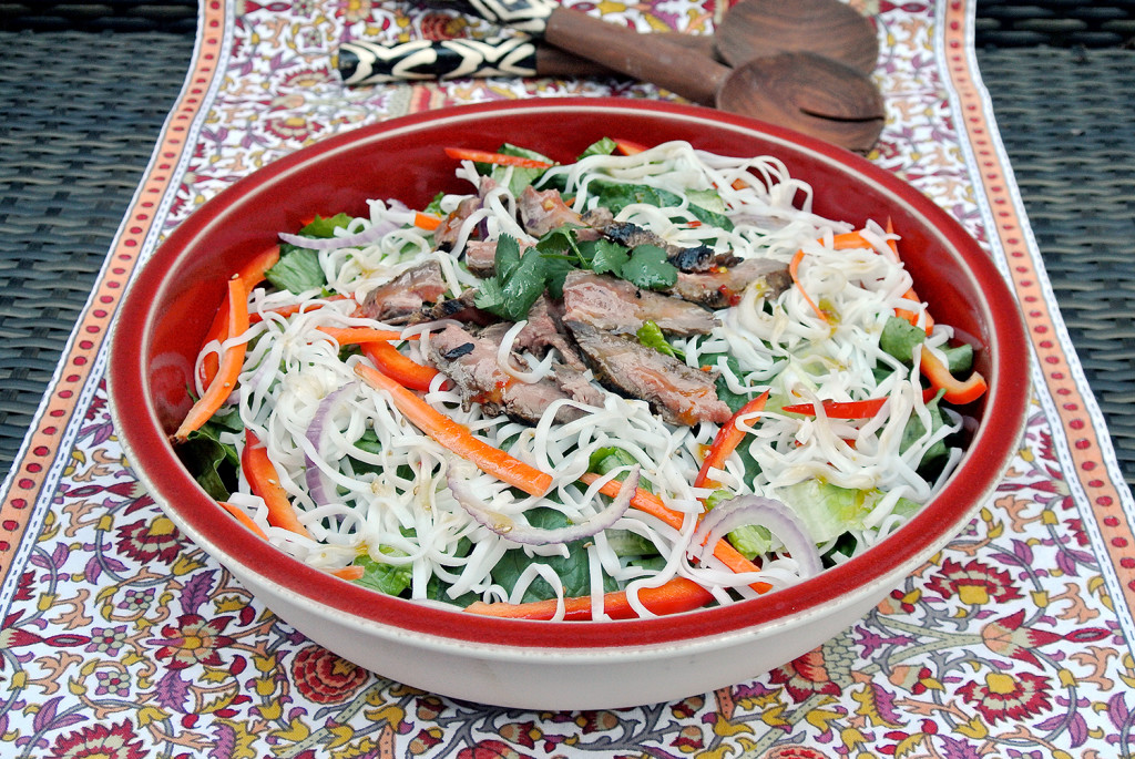 beefy asian noodle salad from just jan's